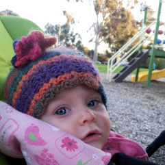 Lylah in her hat